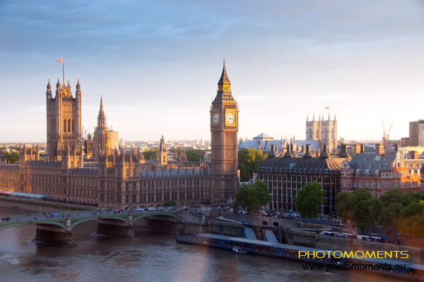 Big Ben, ein Teil des Parlaments und Westminster