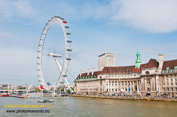 London Eye am Südufer der Themse