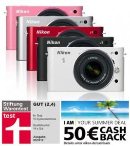 Nikon 1-Kit Cashback Aktion