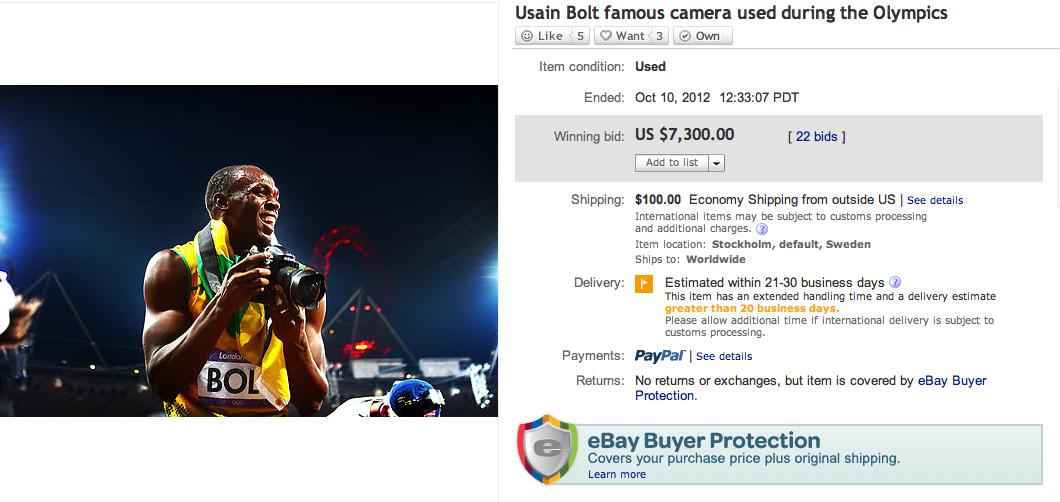 Usain Bolt mit der Nikon D4