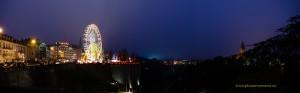 Panorama Luxemburg-Stadt mit dem Riesenrad