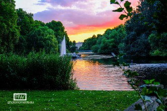 St James Park bei Sonnenuntergang, London